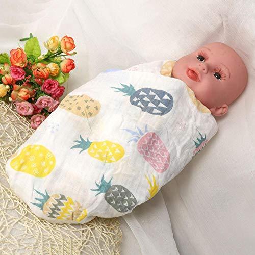 Toalla de baño para bebé, reutilizable y duradera, juego de toallas para bebé liviano y portátil,(Colored pineapple)