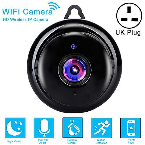 Sugeryy Cámara de Seguridad inalámbrica 1080P WiFi CCTV IP para Interiores y Exteriores, HD DV para el hogar, cámara Nocturna de Seguridad 1080P WiFi CCTV IP para Interiores y Exteriores, HD DV