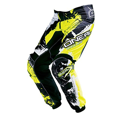 O'NEAL Element Kinder MX Hose Shocker Neongelb Motocross Enduro Offroad, 0124S-62, Größe EU 26/42, US 12/14