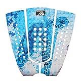 AQUBONA 3 piezas Stomp Pad Surfboard Eva Traction Pad con adhesivo 3M profesional almohadilla de cola para todas las tablas – tablas de surf, tablas cortas, longboards, skimboards (tortuga marina)