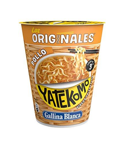 Yatekomo Los Originales Pollo Fideos - Paquete de 8 x 60 gr - Total: 480 gr