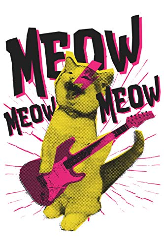 Meow Meow Meow Notebook: Cat journal gift with a cat themed...