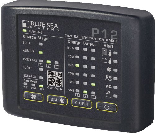 BLUE SEA 7520 P12 LED REMOTE FOR BATTERY CHARGERS
