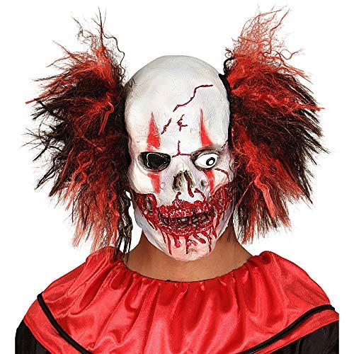 Widmann 01019 - Maske Blutiger Clown - Totenkopf mit Haar