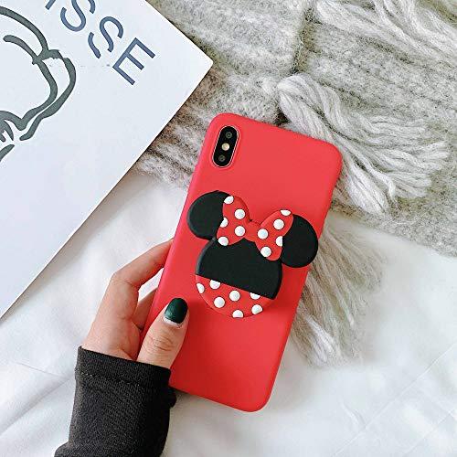 LUOKAOO 3D Cute Cartoo Soft Phone Hülle für iPhone X XR XS 11 Pro Max 6S 7 8 Plus Halter Abdeckung für Samsung S8 S9 S10 Hinweis, F, für S10 Plus