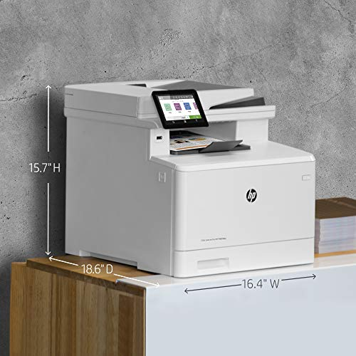 HP Color LaserJet Pro M479fdn Multifunktions-Farblaserdrucker (Drucker, Scanner, Kopierer, Fax, Duplex, LAN, Airprint) weiß