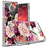 Moto Z3 Case,Moto Z3 Play Case Floral,Osophter Cell Phone Flower Cover for Girls Women Shock-Absorption Flexible Soft Silicone Cases for Motorola Z3 Play(Purple Flower)