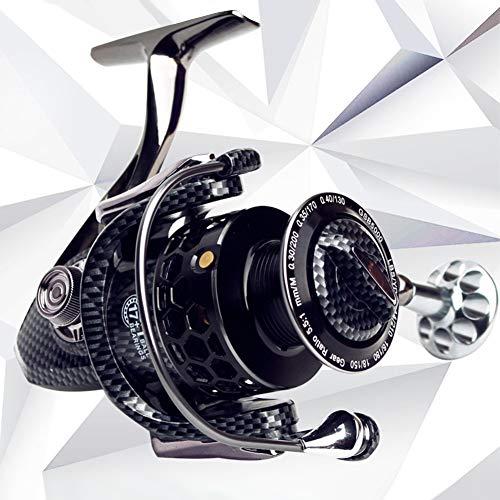 Leoie GSB5000 Full Metal Spinning vismolen met grote spoel aluminium behuizing zout water spinning vismolen