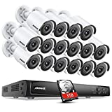 ANNKE POE C800 Bullet 4K Ultra HD Kit de Caméras de Surveillance avec Système de Surveillance Vidéo 8MP 16 Caméras IP 8MP, 16CH NVR H.265+ avec Disque Dur 3TB, Vision Nocturne 30m- 3TB HDD