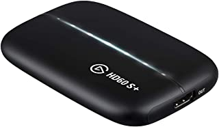 Elgato HD60 S+ Capture Karte für Aufnahme in 1080p60 HDR10 und verzögerungsfreies Passthrough in 4K60 HDR10, Ultra Low Latency Technologie, PS5, PS4/Pro, Xbox Series X/S, Xbox One X/S, USB 3.0