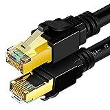 YAODHAOD - Cable Ethernet Cat 8 (0,5 m, resistente a la intemperie, 26 AWG Cat8 LAN con conector RJ45 chapado en oro, 40 Gbps 2000 Mhz para router, módem, juegos, Xbox, POE, PS3, PS4 (1 m)