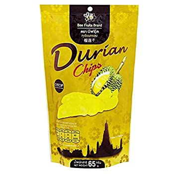 Bee Fruits-Durian Chips Thai Snack 2.3 Ounce Bag