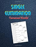 Single Elimination Tournament Bracket: Template Sheets For All Sports and Games | 16 Team Single Elimination | Double and Triple Elimination Blank Tournament Brackets