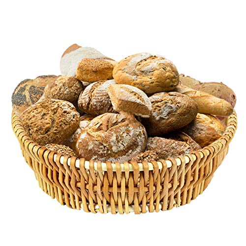 DMAR Bread Basket for Serving Set - 11' Wicker Bread Serving Basket for Homemade Sourdough Bread or Rolls Fruit and Pantry Basket