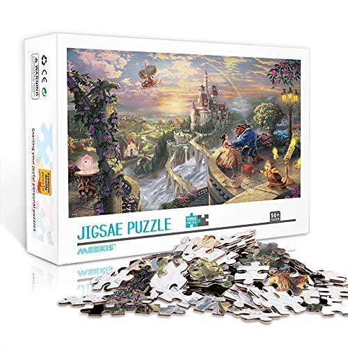 Puzzles De 1000 Piezas Adultos La Bella Y La Bestia 70X50Cm Rompecabezas De Papel Juego De Construcción De Equipos Jigsaws 1000 Piezas para Adultos