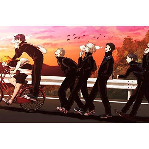 Puzzle 1000 piezas Imagen de la pintura japonesa de la decoración del muchacho del fútbol del animado puzzle 1000 piezas paisajes educativo divertido juego familiar para niños50x75cm(20x30inch)