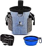 Bolsa de Entrenamiento para Perro, Bolsa de Comida para Perro + Cuenco Plegable, Bolsa de Comida con Dispensador Integrado y Cinturón Ajustable, Fácil de Transportar para la Formación de Perro