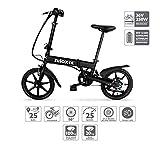 Nilox Doc X2, Bicicletta Elettrica, E-bike, Bicicletta a Pedalata Assistita, Bicicletta Elettrica Pieghevole,Ruota 16'', Motore  250 W, Velocità max 25 Km/h, Nero