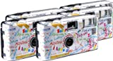 TopShot I mog di weiss Einwegkamera / Hochzeitskamera (27 Fotos, Blitz, 5-er Pack) -