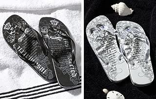 Groom Wedding Honeymoon Gifts Flip Flops - Men Medium Size 11