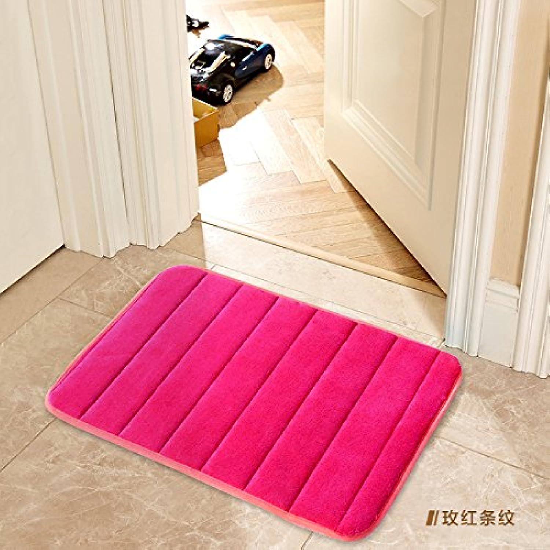 JinYiDian'Shop-Door Mat Matting Bathroom Floor Mat 35×50Cm, Better Red Stripe