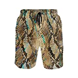 KUWT Mens Swim Trunks Animal Snake Print Quick Dry Beach Shorts...