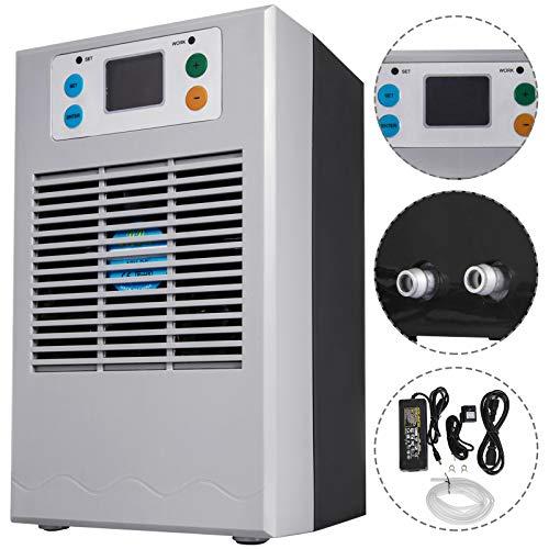 VEVOR 70W Aquarium Wasserkühler Wasserkühlung Heizung Maschine 20L Wasserkühler Durchlaufkühler mit 2m Schlauch, Aquarium Water Temperaturregler Regler, für Alle Arten Kaltwasserbehälte