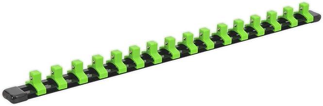 """Sealey AK27053HV 3/8"""" Sq szyna podporowa z 16 klipami - zielony Hi-Vis"""