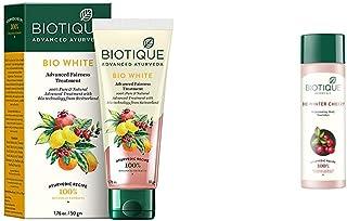 Biotique Bio White Advanced Fairness Treatment Cream, 50g & Biotique Bio Wintercherry Lightening And Rejuvenating Body Nou...