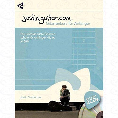Justinguitar.com – gitarrkort för angelägen – arrangerad för gitarr – ackord – med 2 CDs [Noten/Sheetmusic] Komponent: Sandercoe Justin