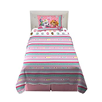Franco Kids Bedding Super Soft Sheet Set 3 Piece Twin Size Paw Patrol Girls