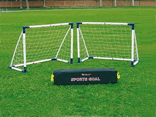 Unbekannt Fußballtor Set / Mini-Soccer Goal 16 Set (2 Tore) - für Kinder und Jugendliche Aller Altersstufen geeignet!
