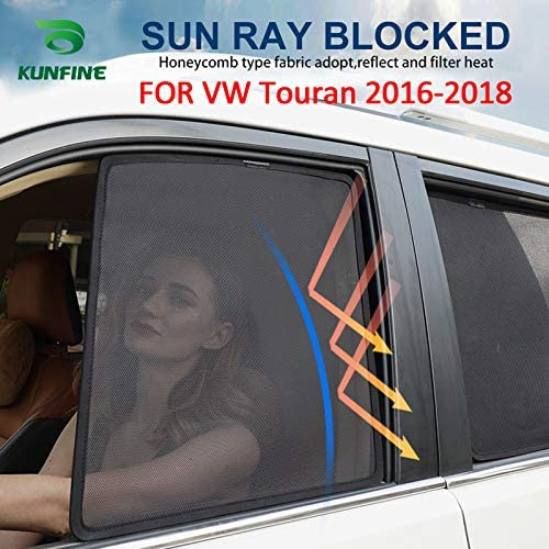 Kunfine Auto Fenster Sonnenschutz Magnetisch Für Vw Touran 2016 2017 2018 2 Pcs Front Auto