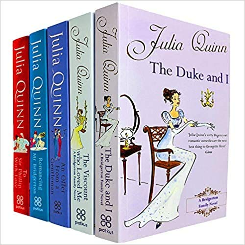 Bridgerton Family Book Series 5 Books Collection Set by Julia Quinn (The Duke and I, Viscount Who Loved Me, Offer From a Gentleman, Romancing Mr Bridgerton & Sir Phillip, With Love) NETFLIX