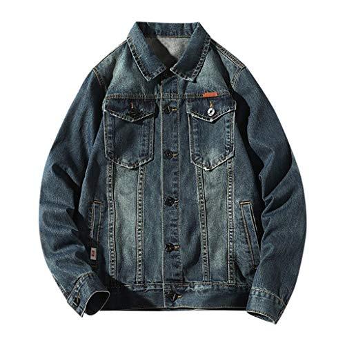 MAYOGO Hoodie Jeans Jacke für Männer/Teenager Denim Jacke Herren College Jacke Schwarz/Blau Jeansjacke Outdoor Freizeitjacke mit Kapuze (Blue, XXXXL)