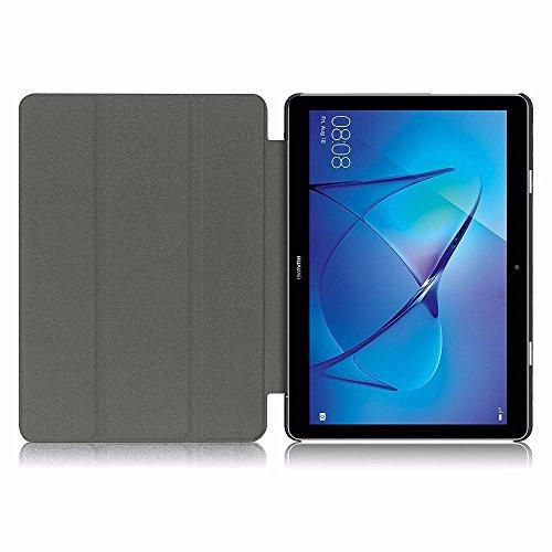 EasyAcc Hülle für Huawei Mediapad T3 10 Hülle, Ultra Schlank Schutzhülle Case mit Zwei Einstellbarem Standfunktion Für Huawei MediaPad T3 10 (9,6 Zoll), Schwarz - 5