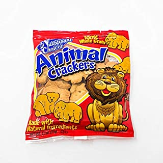 Nutritional Choices Animal Crackers 20 Count | Original Individual Packages Bulk | 100% Whole Grains Natural Ingredients Lunch Snacks | No Preservatives 3g Fiber | Nut Free Facility