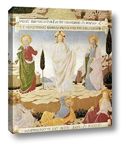 """Transfiguration by Fra Angelico - 13"""" x 16"""" Canvas Art Print Gallery Wrapped - Ready to Hang"""