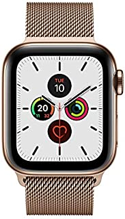 Apple Watch Series 5 GPS + Cellular, 40mm Gold Stainless Steel Case with Gold Milanese Loop