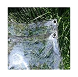 Glass Clear <span class='highlight'>Tarpaulin</span> Rainproof And Dustproof Plant Insulation Cover PVC Soft Film <span class='highlight'>Transparent</span> Metal Ring Eyelet Outdoor Patio Awning (Size : 2mx3m)