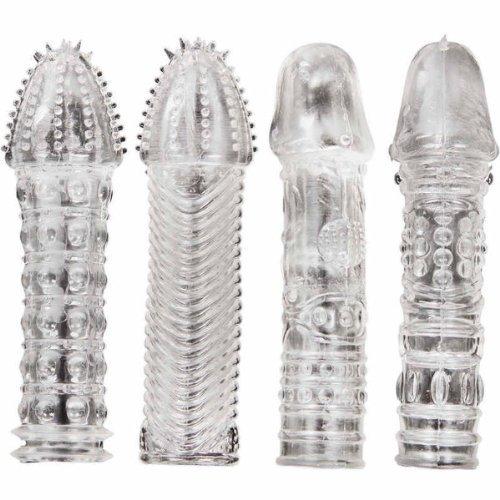 Extensiones de preservativos de silicona (4 unidades)