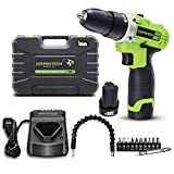 Inspiritech 12V Cordless Drill/Driver with 2...