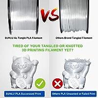 SUNLU Filamento per Stampante 3D, Filamento PLA 1.75, Tangle Free Filamento PLA, 1KG Trasparente #1