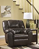 FurnitureMaxx Dylan DuraBlend Contemporary Espresso Faux Leather Rocker Recliner Chair