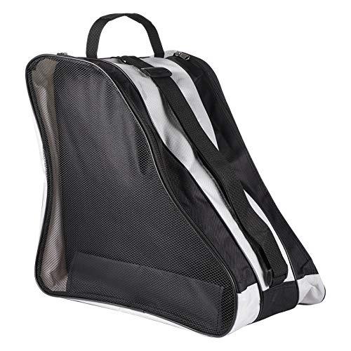 VORCOOL Ice Inline-Skate-Tasche, dreieckig, verstellbarer Schultergurt, Oxford-Stoff, Rollschuh-Schuhaufbewahrung, Organizer für Kinder und Erwachsene, schwarz