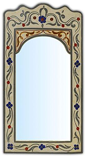 MAISON ANDALUZ Di medie dipinte a mano arco marocchino specchio - In crema - H36 W25 CM