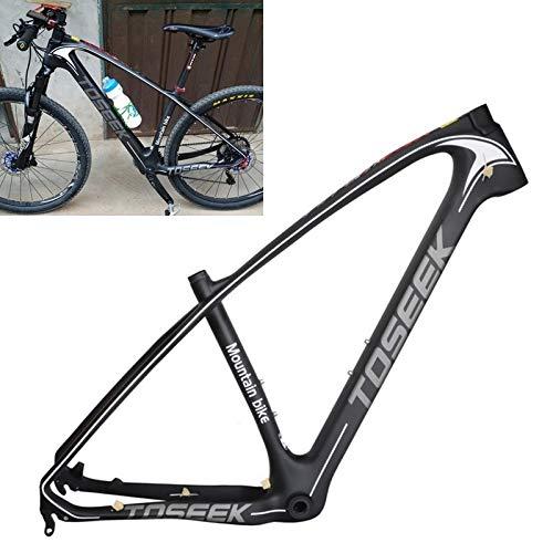 no brand Équipement Accessoires Vélo CTJ Gris Logo VTT Montagne Cadre de vélo Full Suspension T800 en Fibre de Carbone Cadre de vélo, Taille: 29 x 19 Pouces