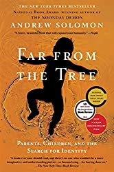 orange book cover illustration of man far from the tree