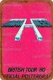 Uriah Heep British Tour'80 Offizielles Poster Vintage