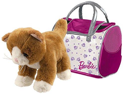 Happy People 52018 Barbie Plüsch Katze, mit Tasche, Stofftier, 18cm